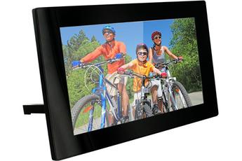 Ecran de 25,6 cm Résolution 1024x600 pixels, lit photos et vidéos Mémoire interne 2 Go Télécommande fournie