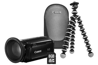 Caméscope numérique HF-R67+accessoire grand-angle+housse+SD8Go+trépied Gorillapod Canon