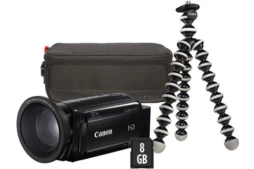 Caméscope numérique LEGRIA HF R77+accessoire grand-angle+housse+SD 8Go+Gorillapod Canon