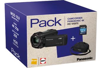 Caméscope numérique PACK HC-VX870 NOIR + FOURRE-TOUT + SD 16GO Panasonic