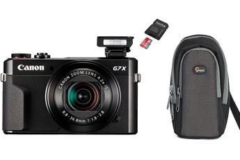 Appareil photo compact POWERSHOT G7X MII + carte MicroSD 64 Go + étui Canon
