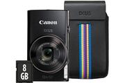 Appareil photo compact Canon IXUS 285 HS NOIR + ETUI + 8GO