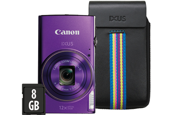 Appareil photo compact IXUS 285 HS POURPRE + ETUI + 8GO Canon
