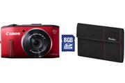 Canon POWERSHOT SX280HS ROUGE + ETUI + 8GO