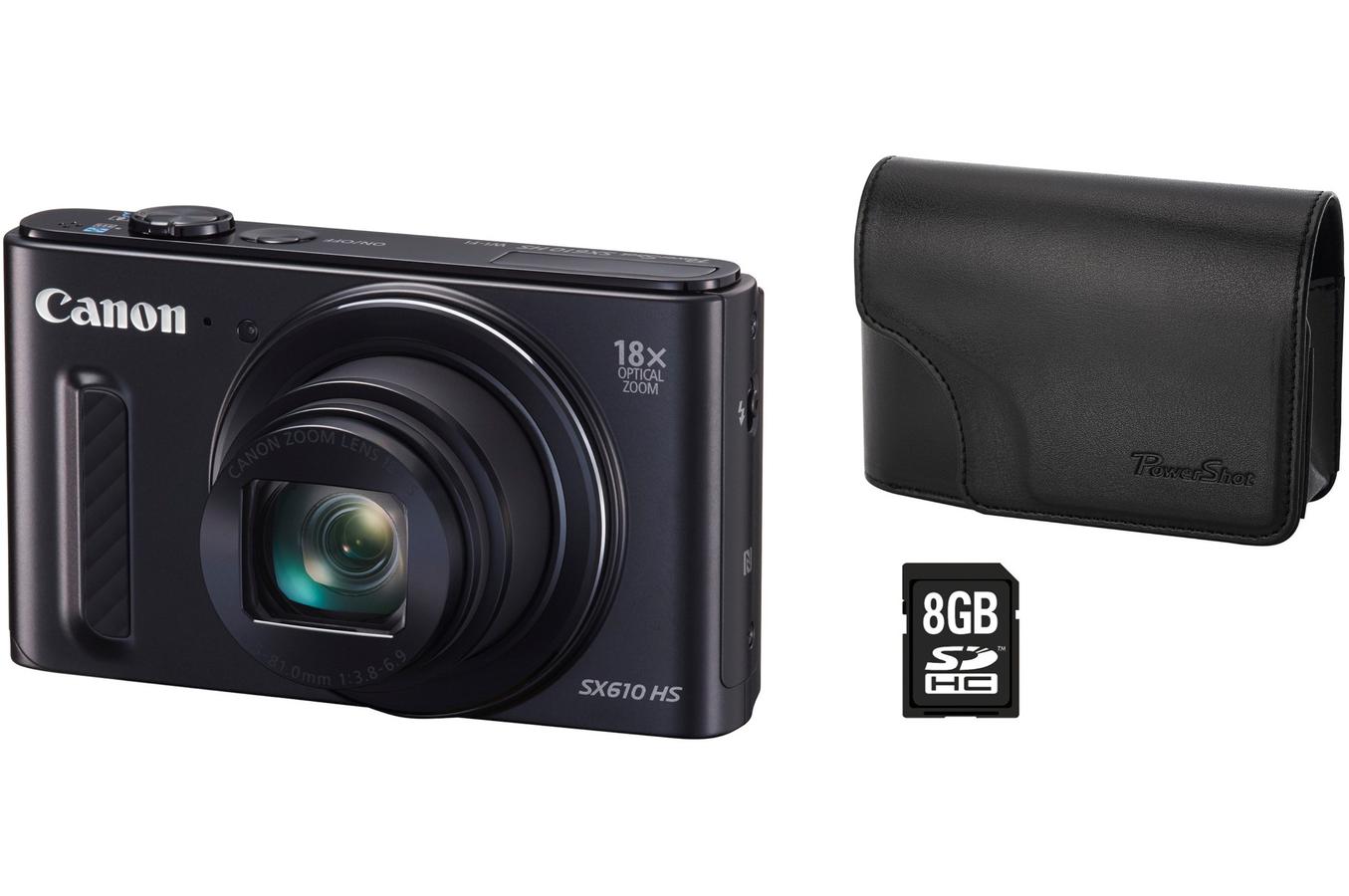 appareil photo compact canon powershot sx610 hs housse. Black Bedroom Furniture Sets. Home Design Ideas