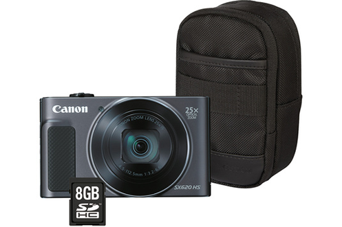 Appareil photo compact POWERSHOT SX620 HS NOIR + ETUI + SD 8GO Canon