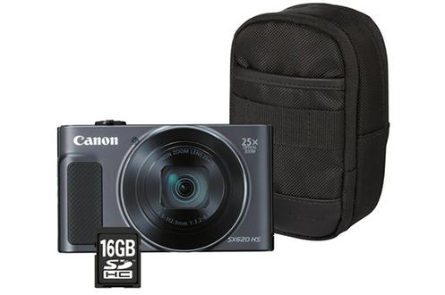 Appareil photo compact POWERSHOT SX620 HS NOIR + ETUI + SD 16GO Canon