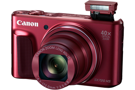 appareil photo compact canon powershot sx720 hs rouge darty. Black Bedroom Furniture Sets. Home Design Ideas