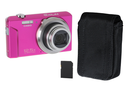 Appareil photo compact casio ex zs150 rose housse 4go for Housse appareil photo compact