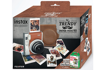 Appareil photo compact PACK INSTAX MINI 90 MARRON RÉTRO Fujifilm