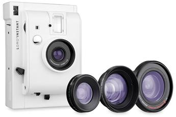 Appareil photo compact Lomo'Instant Mini Blanc + 3 lentilles Lomography