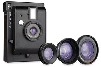 Appareil photo compact Lomo'Instant Mini Noir + 3 lentilles Lomography