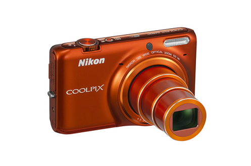 appareil photo compact nikon coolpix s6500 orange 1372629. Black Bedroom Furniture Sets. Home Design Ideas
