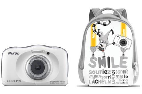 Appareil photo compact COOLPIX S33 KIT SAC A DOS BLANC Nikon