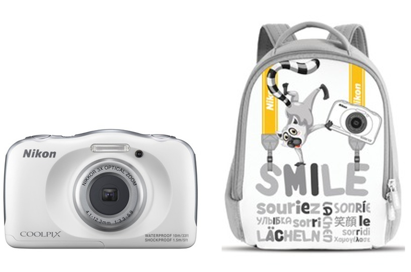 Appareil photo compact nikon coolpix s33 kit sac a dos for Appareil convivial