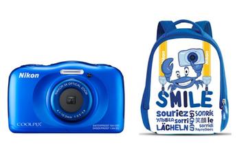 Appareil photo compact COOLPIX S33 KIT SAC A DOS BLEU Nikon