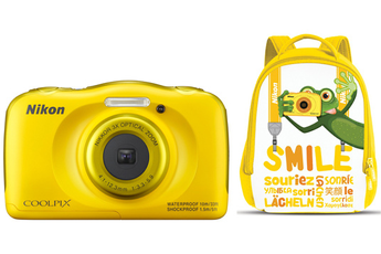 Appareil photo compact COOLPIX S33 KIT SAC A DOS JAUNE Nikon