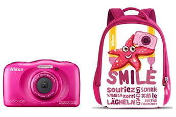 Appareil photo compact COOLPIX S33 KIT SAC A DOS ROSE Nikon