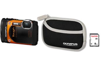 Appareil photo compact TG-860 + étui + carte SDHC 8Go Olympus