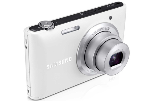 appareil photo compact samsung st73 blanc housse 4 go 3754480. Black Bedroom Furniture Sets. Home Design Ideas