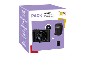Appareil photo compact Sony PACK DSC-HX90V + ETUI + CARTE SD 8GO