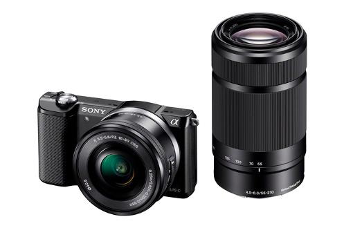 Appareil photo hybride A5000 NR + 16-50 + 55-210 Sony