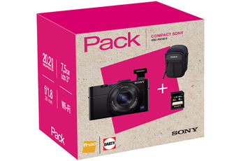 Appareil photo compact PACK DSC-RX100 II NOIR + HOUSSE + CARTE SD 8 GO Sony
