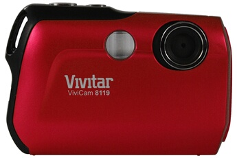 Appareil photo compact V8119 ROUGE Vivitar