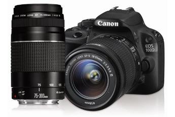 Reflex EOS 100D + EF-S 18-55 III + EF 75-300mm III Canon