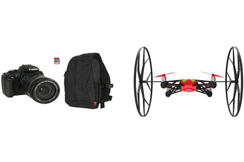 Reflex EOS1200 D 18-135MM + SAC 300EG + SD 8GO + DRONE PARROT Canon