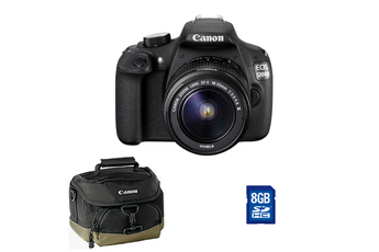 Reflex EOS 1200D 18-55 DC III + SACOCHE 100EG + CARTE SD 8 GO Canon