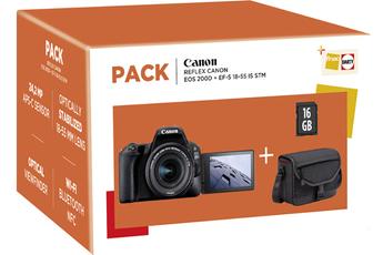 Capteur CMOS APS-C de 24,2 Mpixels - ISO 100 à 25.600 Ecran LCD 7,7 cm orientable et tactile de 1040K Pixels Vidéo Full HD 60p - Mode rafale 5i/ sec Processeur DIGIC 7 - WIFI, NFC et Bluetooth