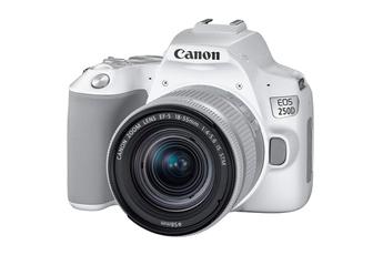 f7c89eee83 Reflex EOS 250D blanc + objectif EF-S 18-55 mm f/4