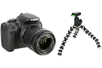 Reflex EOS 700D + 18-55 IS STM + GORILLAPOD HYBRIDE Canon