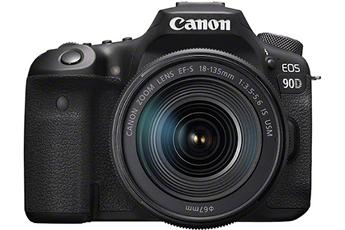Appareil photo Reflex Canon EOS 90D, Objectif EF-S 18-135 IS USM