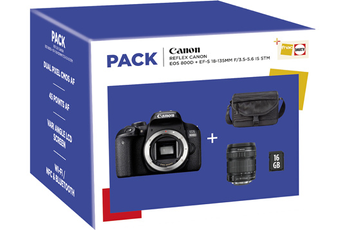 Pack Canon EOS 800D