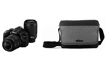 Reflex Kit D3200 18-55 VR + 55-200 VR + OFFRE LONELY PLANET + SACOCHE Nikon