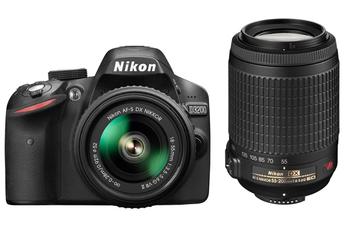 Reflex D3200 18-55VRII + 55-300VR Nikon