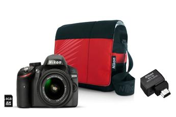 Reflex NIKON D3200 + 18-55VR II + WU-1B DONGLE WIFI + FOURRE TOUT + 8GO Nikon