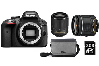 Reflex D3300 + 18-55mm VR + 55-200mm VRII + SACOCHE + SD 8G Nikon