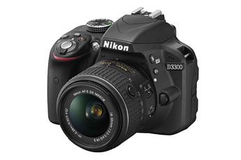 Reflex D3300 + 18-55VR II NOIR Nikon