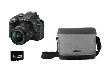 Reflex D3300 + 18-55MM VR +HOUSSE + SD 8GO Nikon