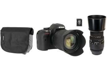 Reflex NIKON D3300+18-105VR + SIGMA 70-300 MM F4-5.6 DG MACRO NIKON + HOUSSE + SD 8GO Nikon