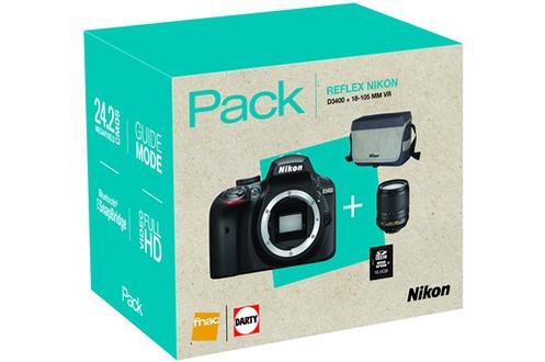 Nikon PACK D3400+AF-S 18-105MM VR + HOUSSE + SD 16GO