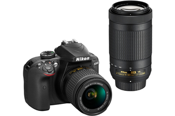 Reflex D3400 NOIR + AF-P 18-55MM VR + AF-P 70-300MM VR Nikon