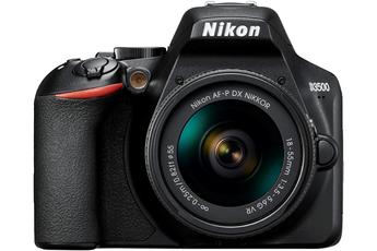 Capteur CMOS 24,2 Mpixels sans filtre passe bas Ecran LCD 7,5 cm de 921K pixels Video HD 1080p - Mode rafale 5 im/sec Livré avec optique AF-P DX 18-55 VR
