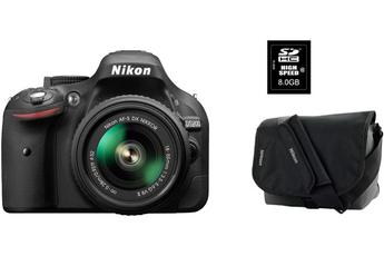 Reflex D5200 + 18-55VR II + FOURRE-TOUT + SD 8 GO Nikon