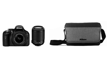 Reflex Kit D5200 18-55 VR + 55-200 VR + OFFRE LONELY PLANET + SACOCHE Nikon
