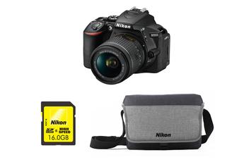 Reflex D5600 + AF-P DX NIKKOR 18-55 mm VR + HOUSSE + SD 16GO Nikon