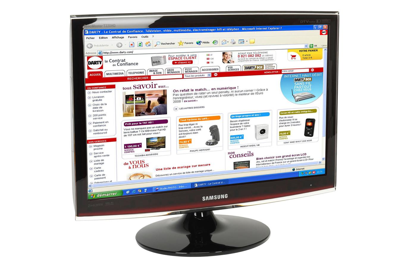 ecran pc samsung syncmaster t220hd syncmastert220hd. Black Bedroom Furniture Sets. Home Design Ideas